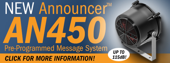 The AN450 is a powerful and rugged industrial announcement system!